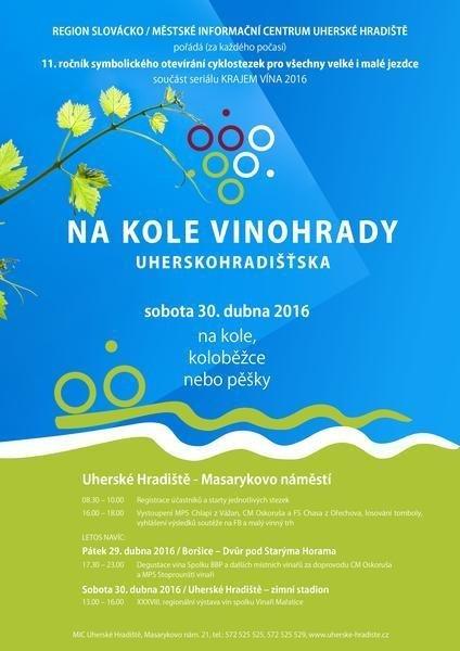 Na kole vinohrady Uherskohradišťska 30. dubna 2016